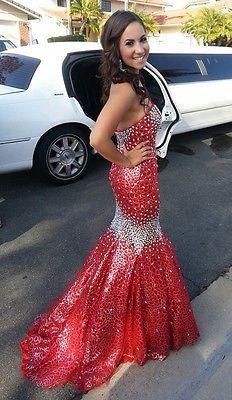 Mermaid dress prom hair