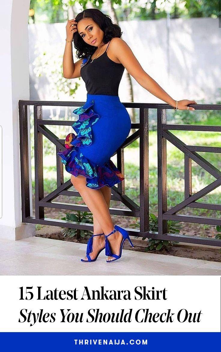 High waist african skirt styles