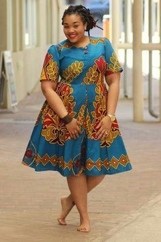 Plus size short african dresses