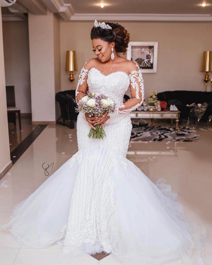 Mermaid Wedding Dress, Plus Size Wedding Dress on Stylevore
