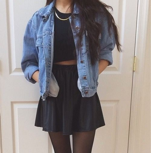 Outfit indie, Grunge fashion, Jean jacket