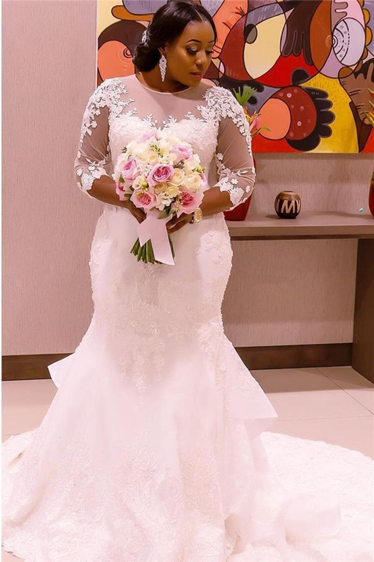 Mermaid Plus Size Wedding Dresses On Stylevore