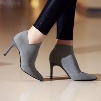 High-heeled shoe,  Fashion boot