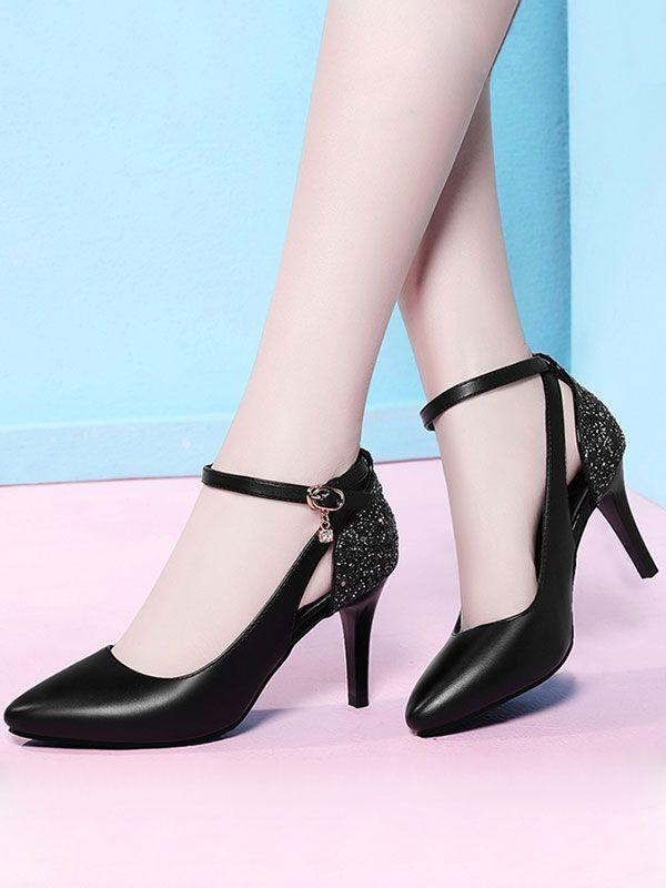 High-heeled shoe,  Peep-toe shoe