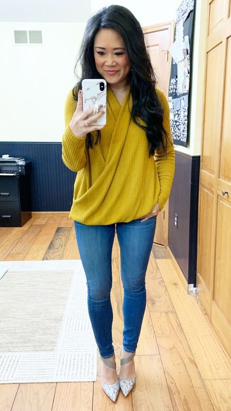 Yellow Top With Skinny Jeans