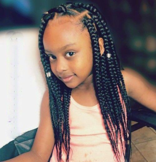 Box braids hairstyles kids on Stylevore
