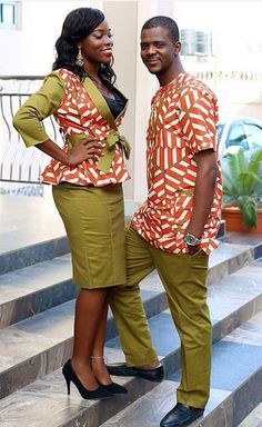 Couples african attire