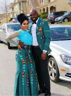 African Couple Matching Outfits Women & Men