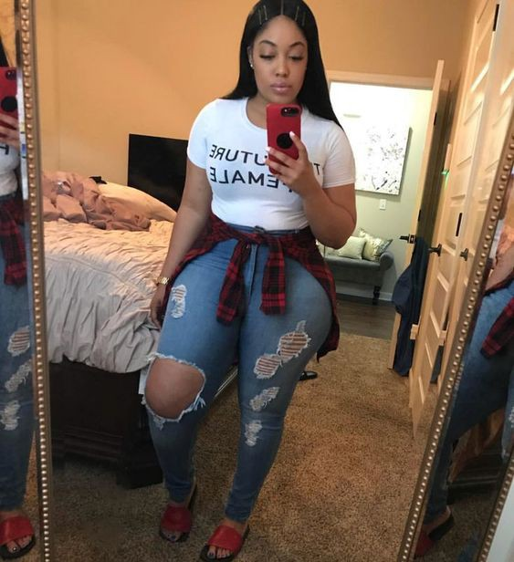 Plus-size clothing, Ripped jeans