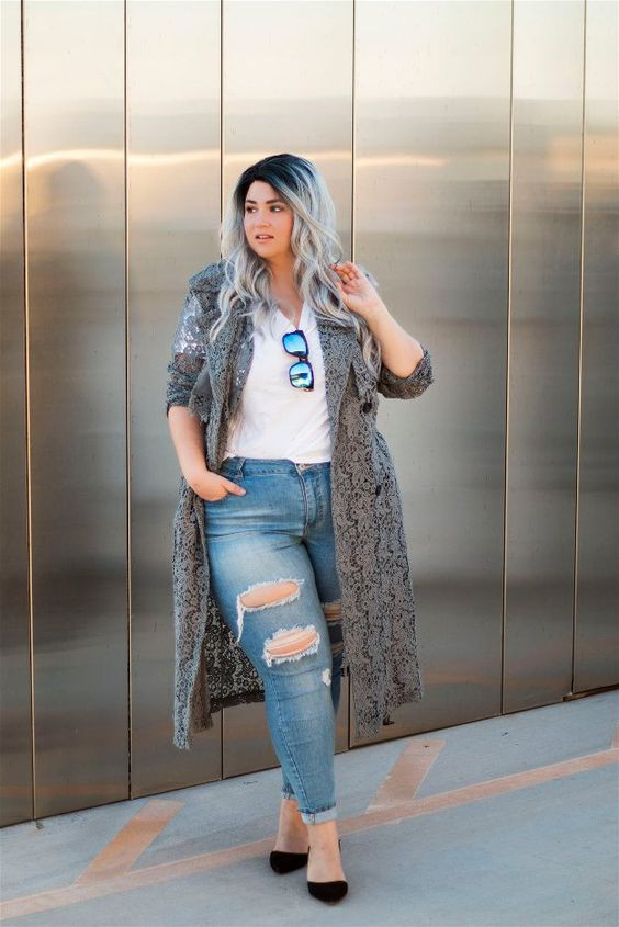 Best Plus Size ripped jeans for Curvy girl