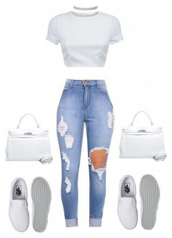 See these incredible 2017 denim outfits polyvore, Floral