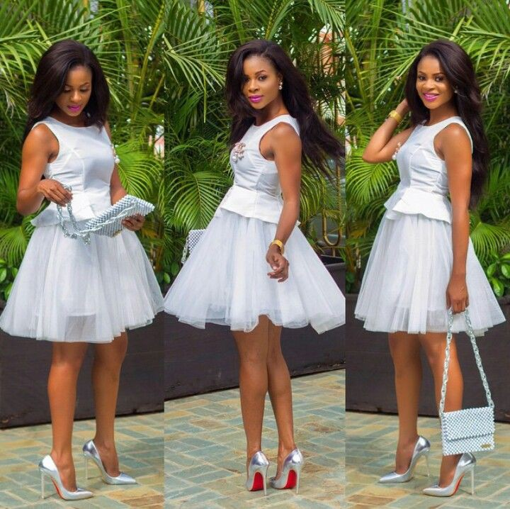 White African Wedding Outfit For Guests