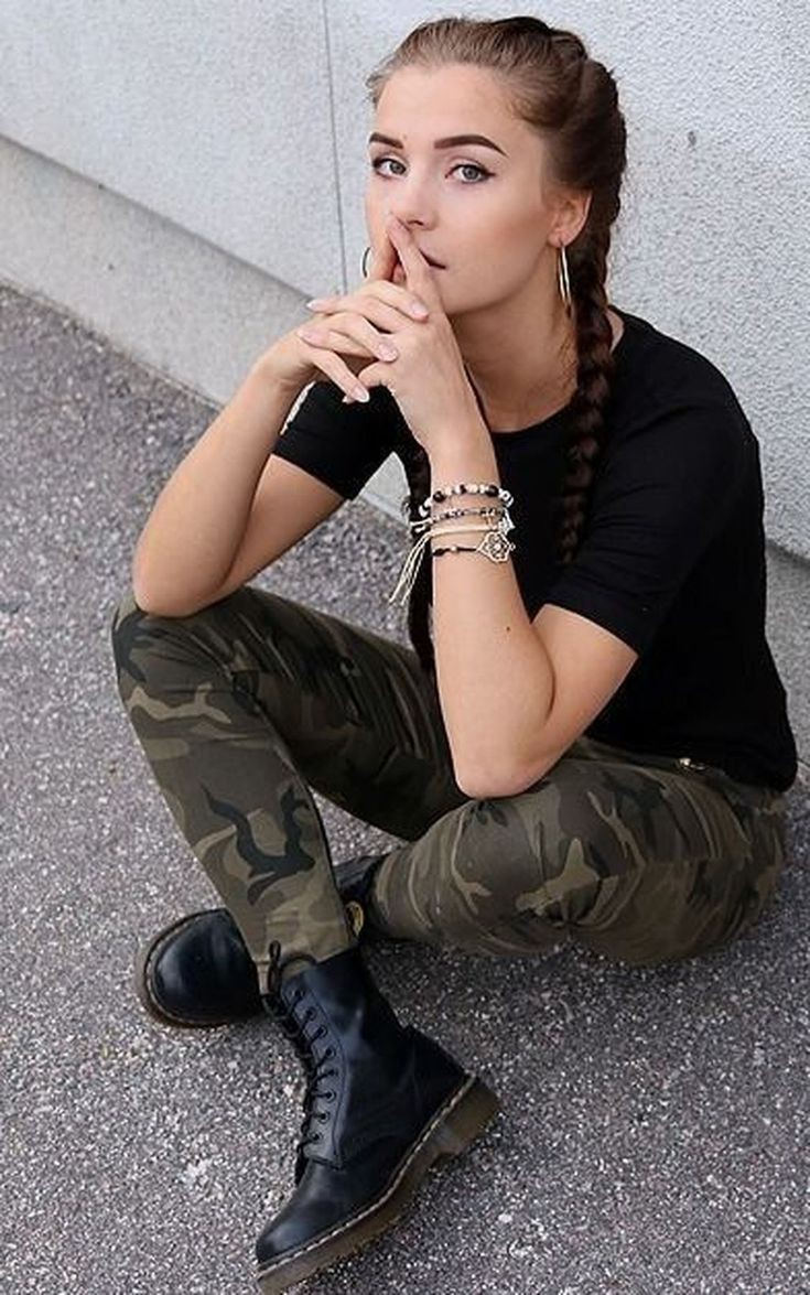 Military Look Urban Swag Outfit For Girls