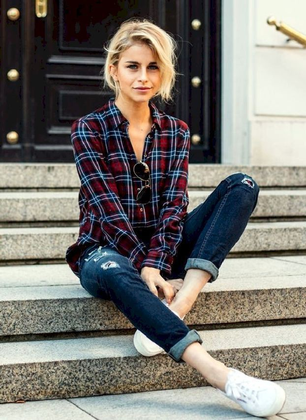 Fashionable and stylish Flannel Outfits
