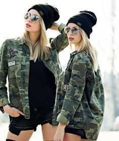 Military Look For Girls, Army Costume Economy, Military camouflage