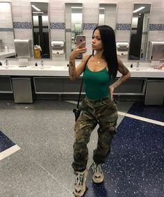 Military Look For Girls, Lace wig, Casual wear