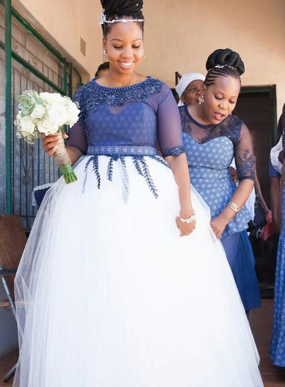 Latest Plus Size African Wedding Dresses