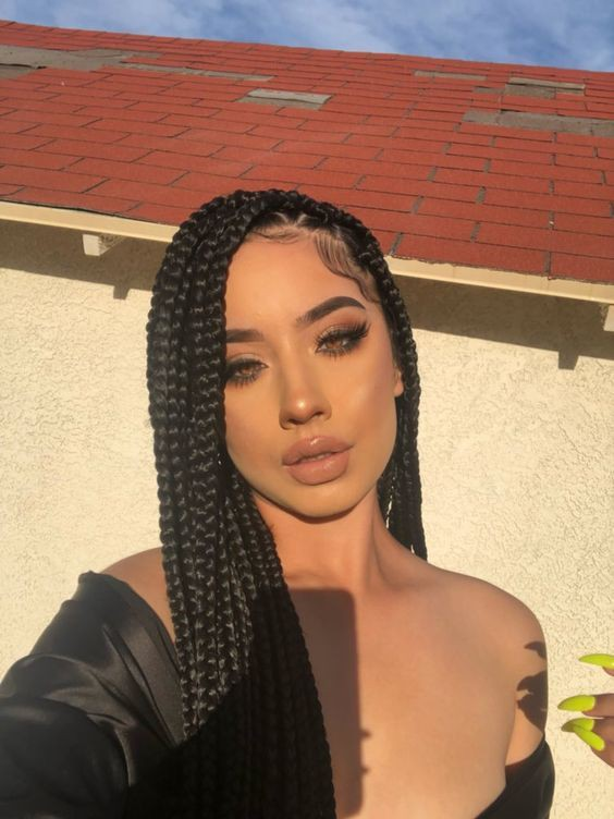 Hairstyles For Girls Black Box Braids 42