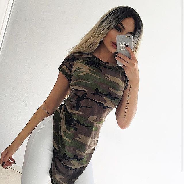 Style of today outfit blusa camuflaje, Casual wear