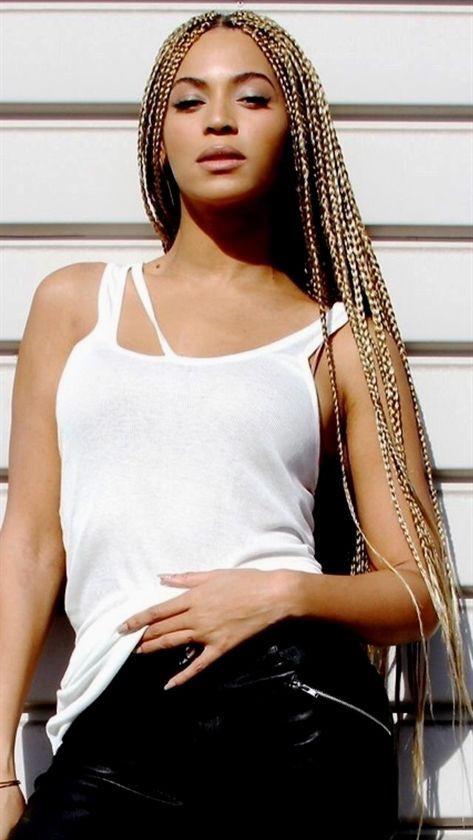 Beyonce with box braids, Box braids
