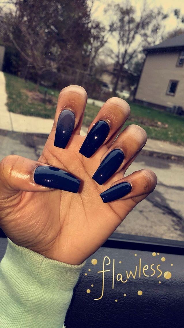Champagne Acrylic Nails For Dark Skin On Stylevore