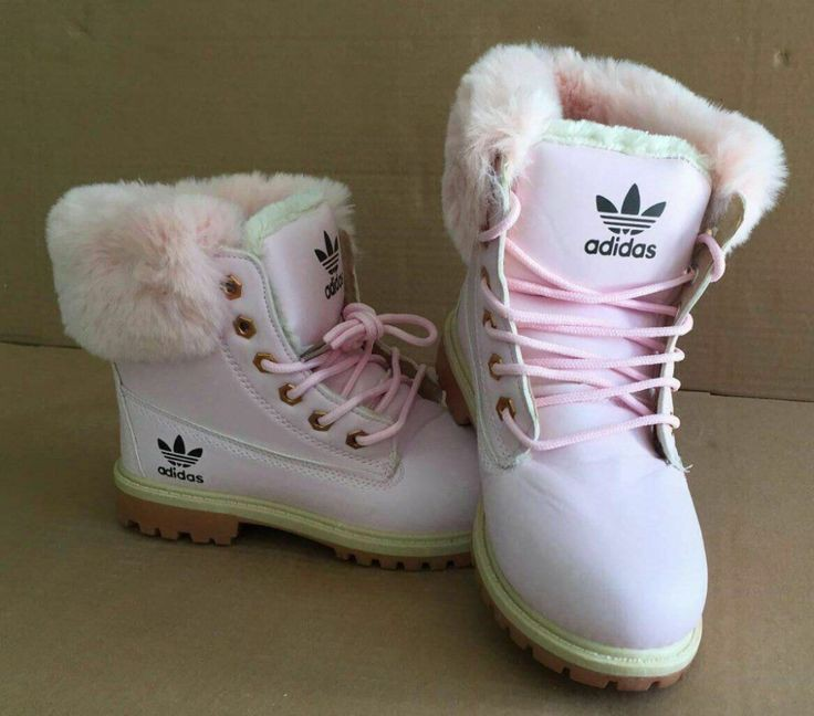 Pink Adidas Fur Boots For Teen Girls on Stylevore