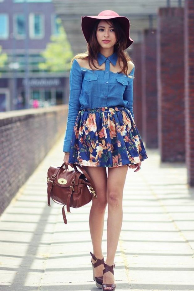 Floral Skirt Outfit Ideas for Spring Weather
