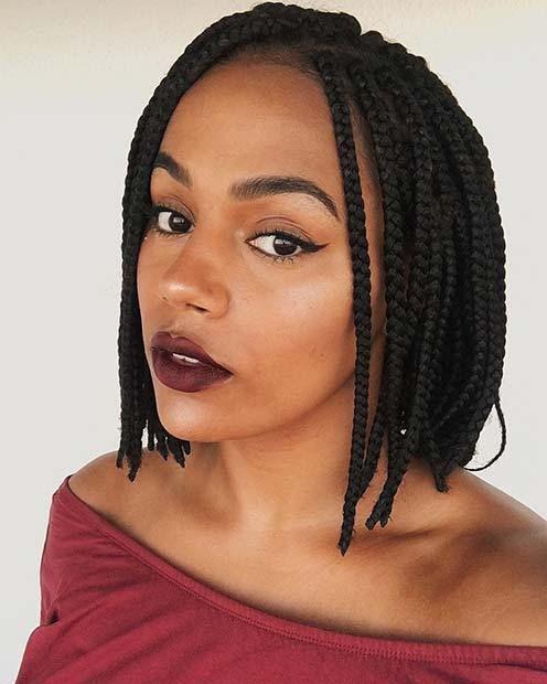 Knotless Shoulder Length Box Braids Hair On Stylevore