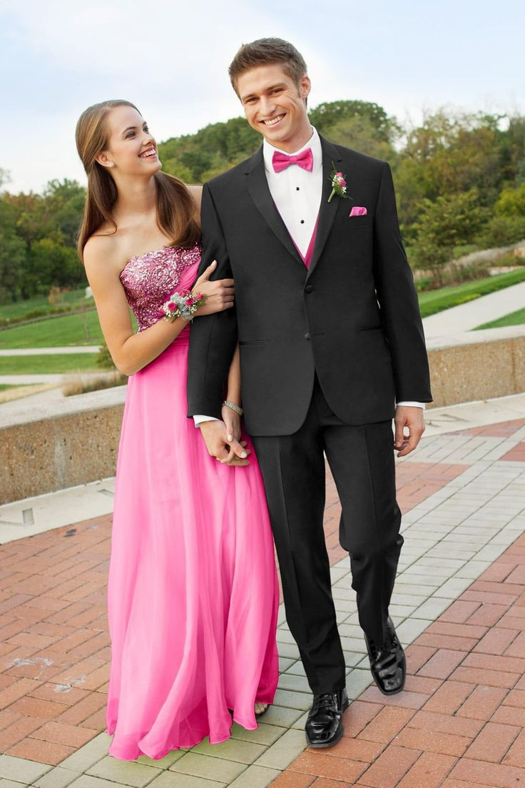 Pink and black tux, Formal wear