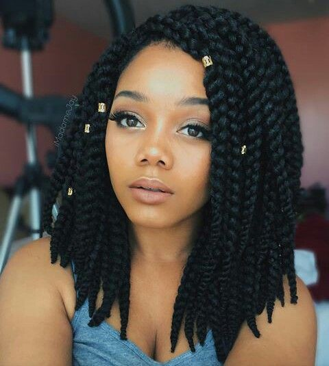 Shoulder Length Crochet Braids Hairstyle On Stylevore