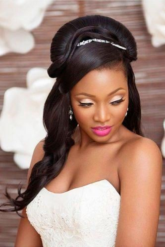 African American Wedding Hairstyles Half Up And Half Down on ...