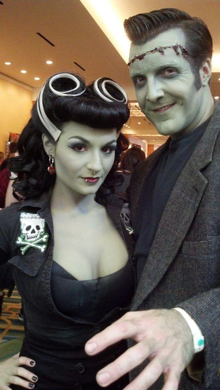 London Most Admired Frankenstein Couple Halloween Costumes