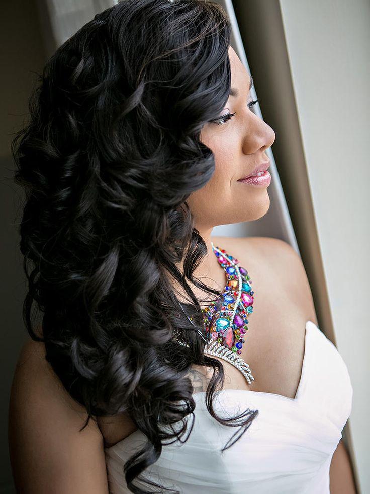 Black Brides Hairstyles Long Black Hair On Stylevore