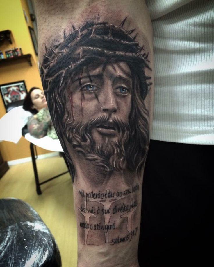 Half Sleeve Jesus Tattoos For Men Lower Arm On Stylevore