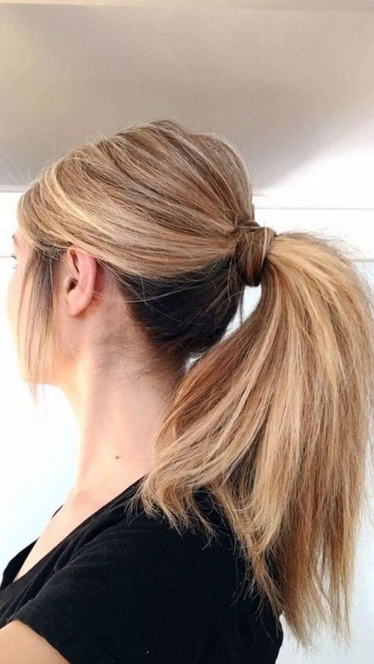 Simple Hairstyles For Medium Hair In Pony On Stylevore