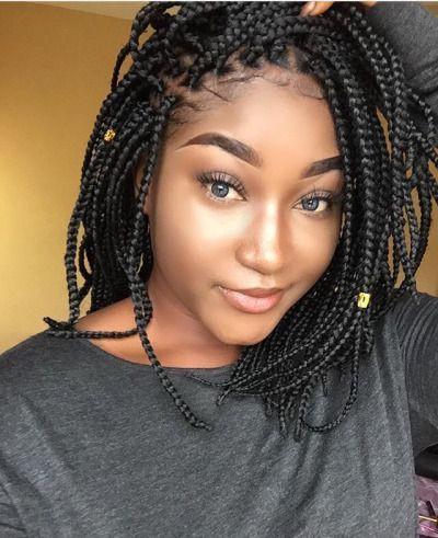 Short box braids hairstyles, Box braids