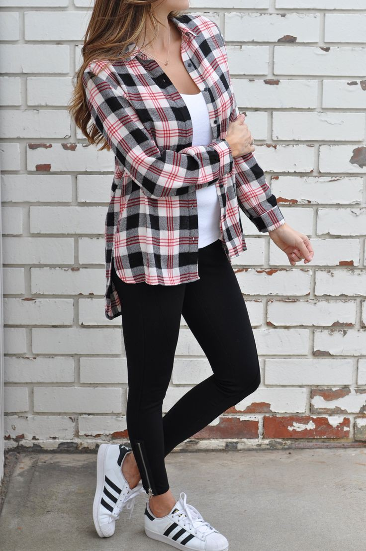 Summer Flannel Shirt Outfits For Teens
