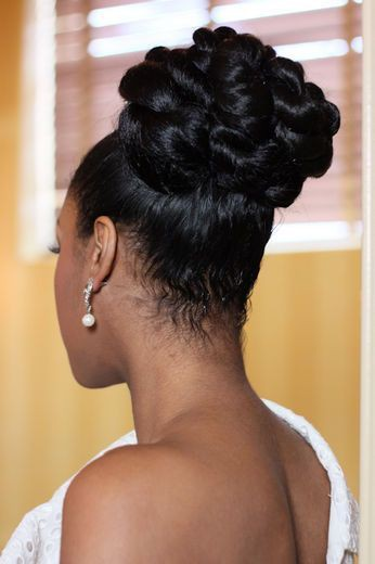 African American Updo Hairstyle Black Hair On Stylevore
