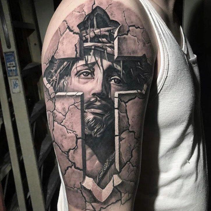 Fabulous Upper Arm Half Sleeve Tattoos For Men On Stylevore