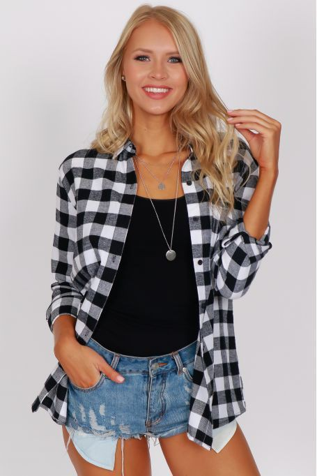 Grunge Oversized Flannel Outfit