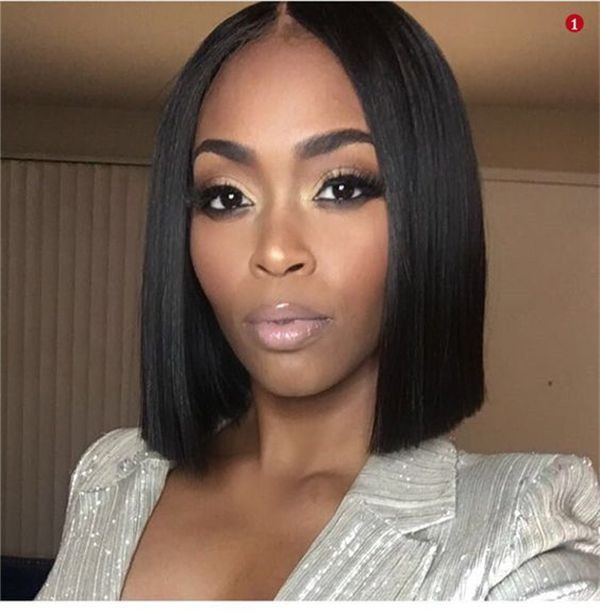 Middle Part Black Bob Hairstyles Black Women On Stylevore