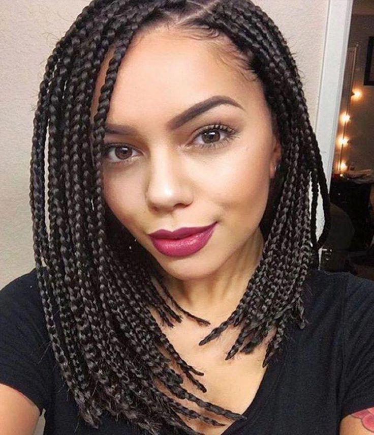 Medium box braid hairstyles