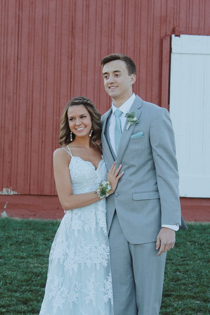 Elegant Homecoming White Outfit For Couples