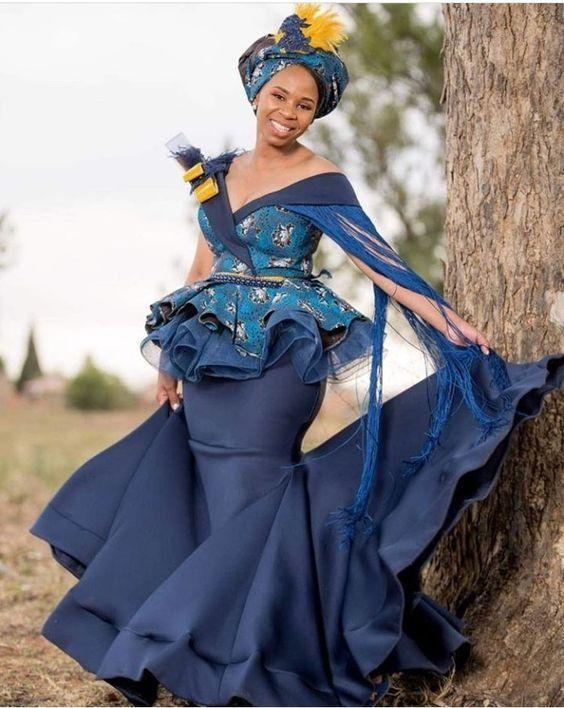 Wedding shweshwe dresses for makoti