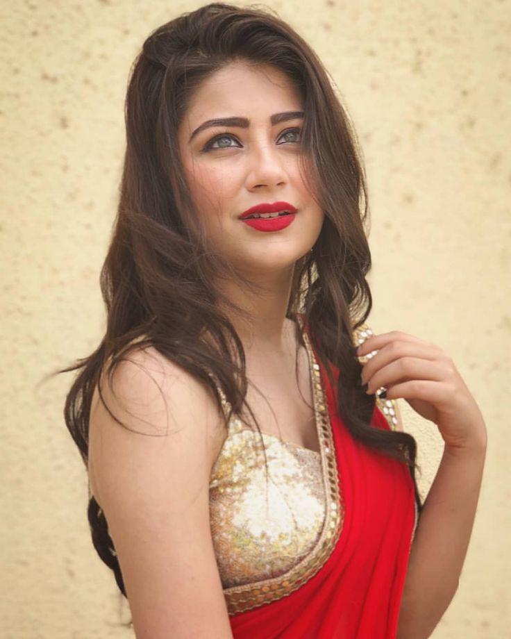 Aditi Bhatia In Red Saree