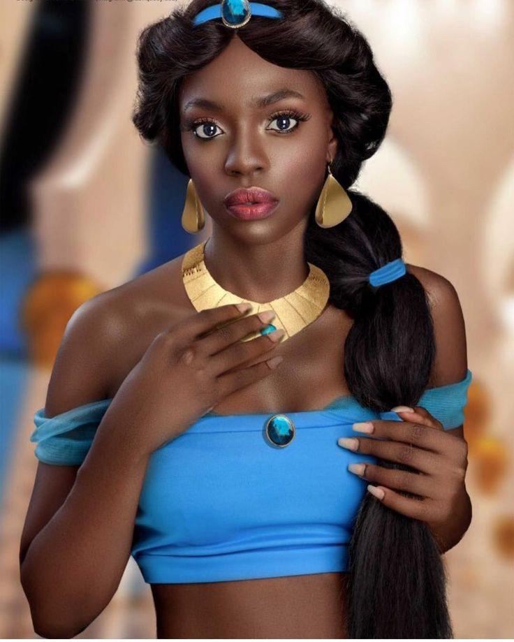 Black Girl Hot Princess Jasmine Halloween Costumes on Stylevore
