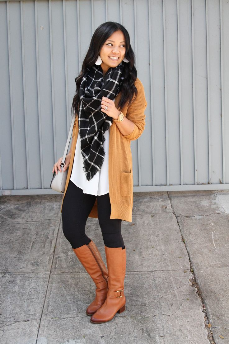 Check out these stylish cognac boots outfit