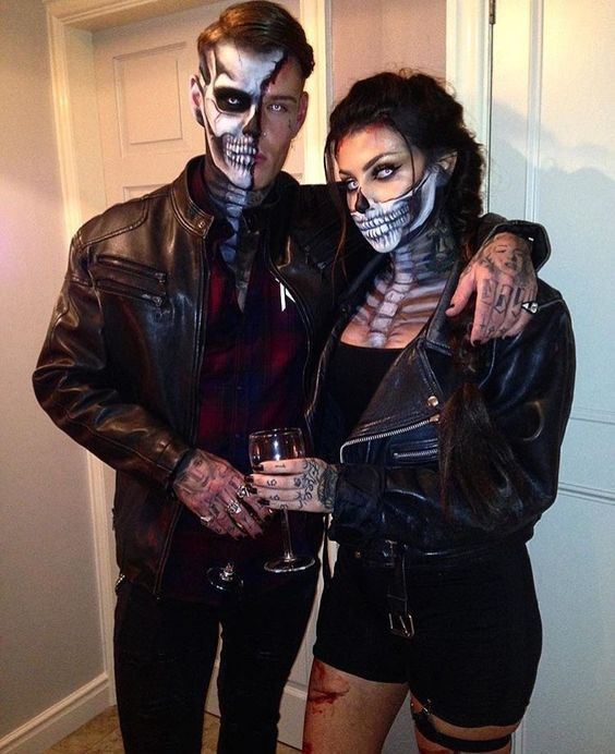 Finest choice for couple halloween makeup, Halloween Hombre On