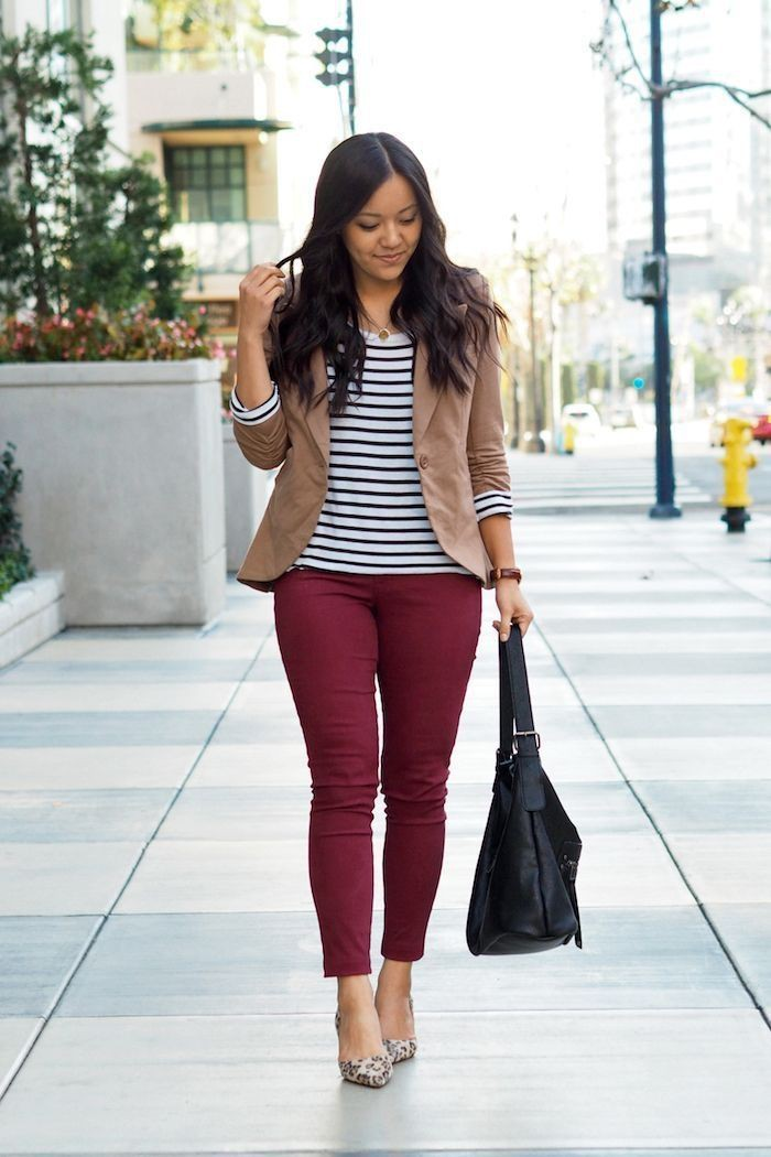 Woman business casual blazer