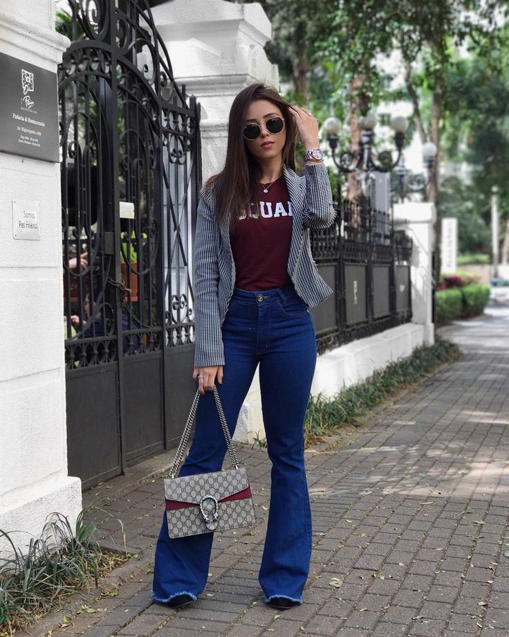 Classy flared pants outfit